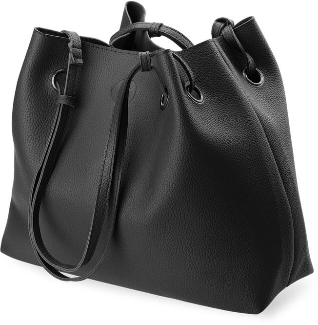 gro e damentasche 2 in 1 beutel tasche mit etui schwarz ebay. Black Bedroom Furniture Sets. Home Design Ideas