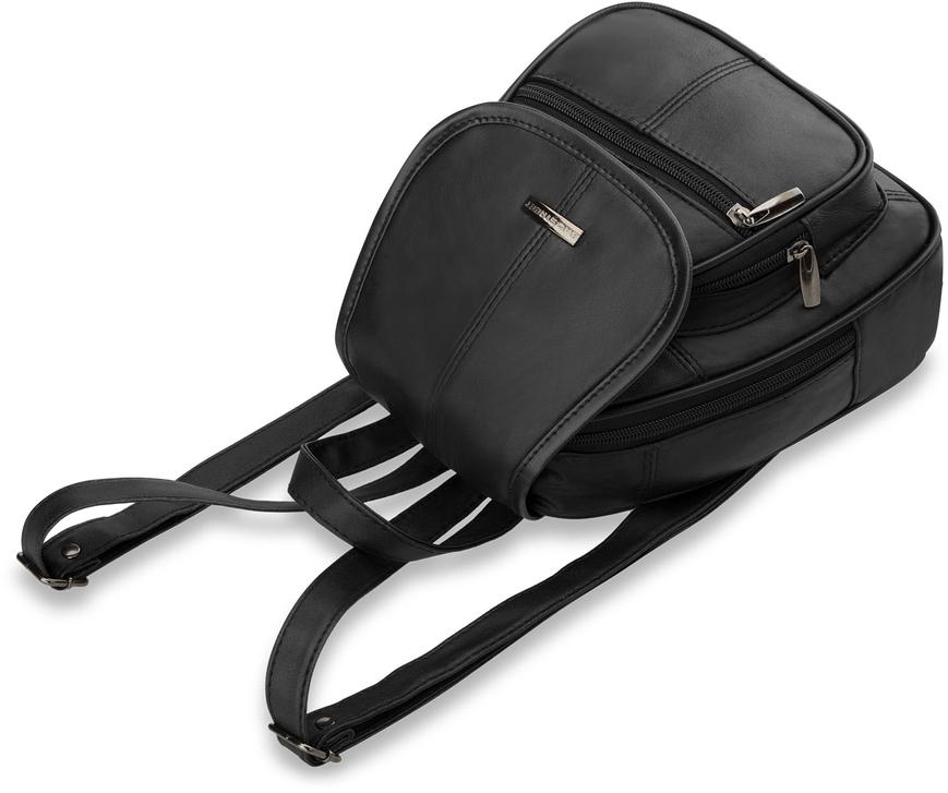 damen rucksack damentasche ledertasche schwarz markentasche bag street ebay. Black Bedroom Furniture Sets. Home Design Ideas