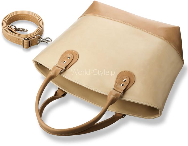84a347ed9fc71 Niezwykle modna torebka damska, łącząca elegancję i miejski szyk. Duża torebka  typu Shoppper Bag wykonana ze skóry ekologicznej.