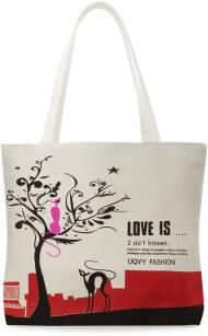 d177470786fa2 PŁÓCIENNA ECO TORBA SHOPPERKA MŁODZIEŻOWA RÓŻNE WZORY - LOVE IS.
