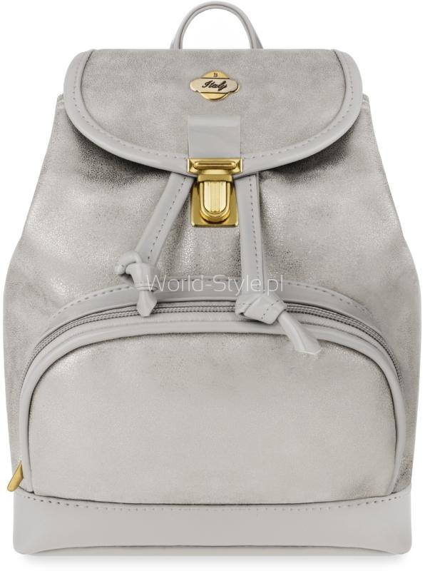 05edd703a8e1e Uroczy plecak damski z przepinanym paskiem zmieniającym go w torebkę.  Wykonany został zgodnie z najnowszymi trendami na wzór worka, z elegancko  błyszczącego ...