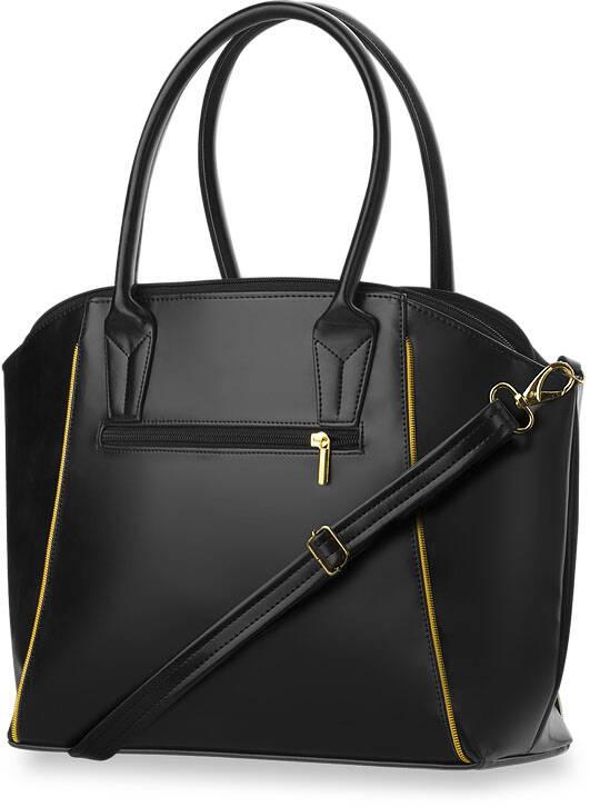 54d8b49f82320 Wysokiej jakości torebka damska w całości wykonana z wytrzymałej skóry  ekologicznej. Boki torebki zostały gustownie przyozdobione zamkiem.