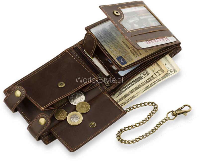 d3dae3d571bbd Męski portfel znanej niemieckiej marki Wild Things Only wykonany z  wytrzymałej skóry ekologicznej. Idealny dla Panów ceniących sobie komfort  użytkowania ...