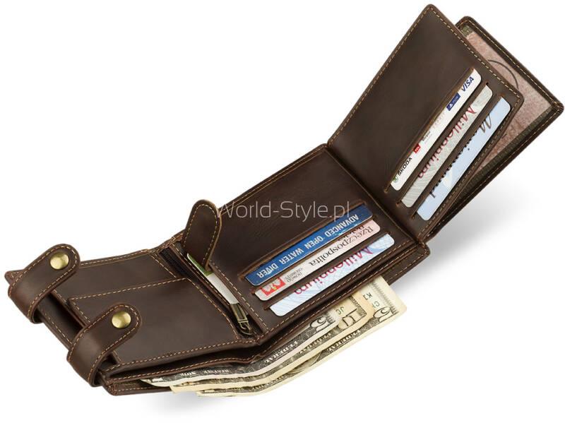 234da9e86cf21 Męski portfel znanej niemieckiej marki Wild Things Only wykonany z  wytrzymałej skóry ekologicznej. Idealny dla Panów ceniących sobie komfort  użytkowania ...
