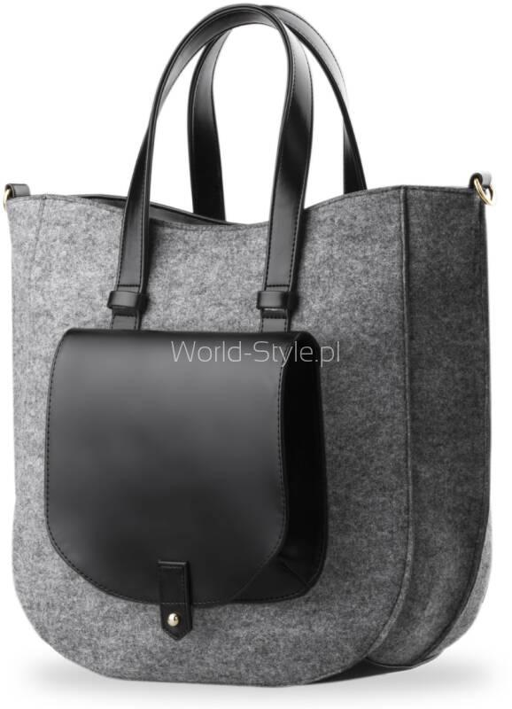 e92adb0305316 Wyjątkowa torebka miejska XXL w stylu Shopper Bag. Torebka została wykonana  ze sztywnego