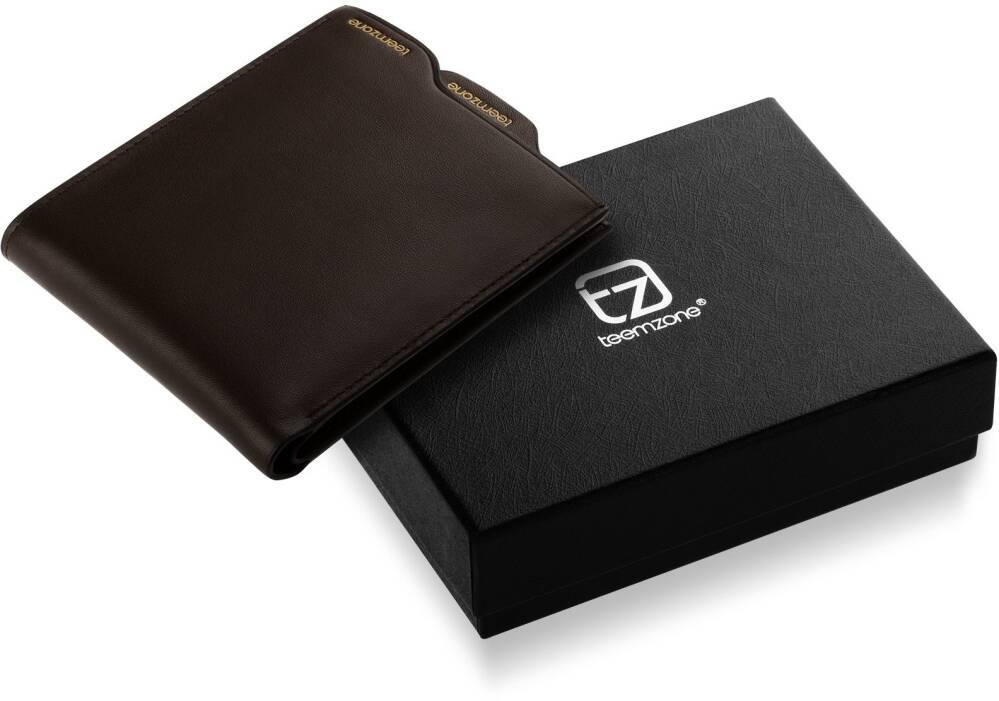 53ee4b2aa4f35 Modny portfel męski wykonany z wysokiej jakości skóry. Pomieści banknoty