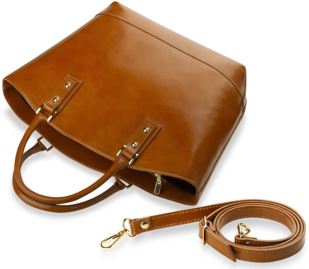 2f21800047c1e Wyjątkowa włoska torebka typu Shopper Bag, wykonana z wysokiej jakości  skóry naturalnej. Starannie i dokładnie wykonana, gwarantuje wysoki komfort  ...